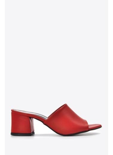 Vizon Ayakkabı Terlik Kırmızı